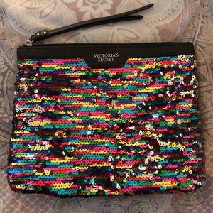 Victoria's Secret Sequin Cosmetic Bag